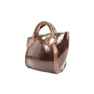 Dametaske i Lak look (brun) i lille gaveæske 130 g