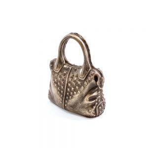 Dametaske i realistisk look (brun) i lille gaveæske 143 g