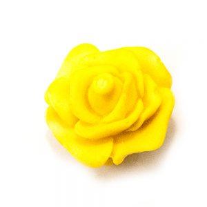 Rose ( GUL ) i Hvid Chokolade 35 g
