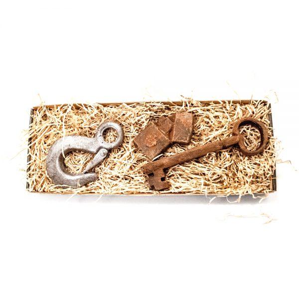 Krankrog, lighter samt nøgle i stor gaveæske 115 g
