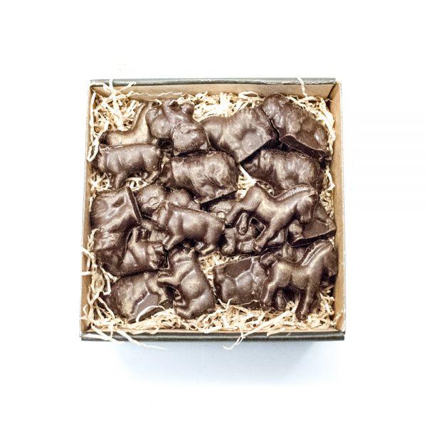 Blandede landbrugs dyr i lille gaveæske 125 g