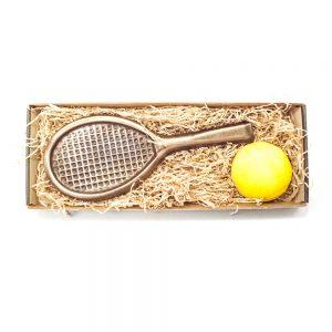 Tennisspiller sæt i stor gaveæske 170 g