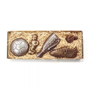 Fodbold spiller sæt (DRENG) i lille gaveæske 185 g
