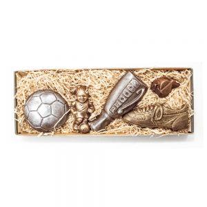 Fodbold spiller sæt (PIGE) i lille gaveæske 185 g